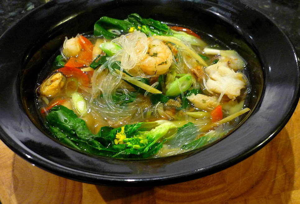 Glass Noodle Seafood Soup