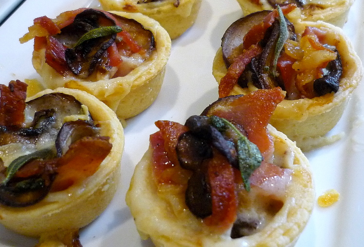 Mushroom and Proscuitto Tarts