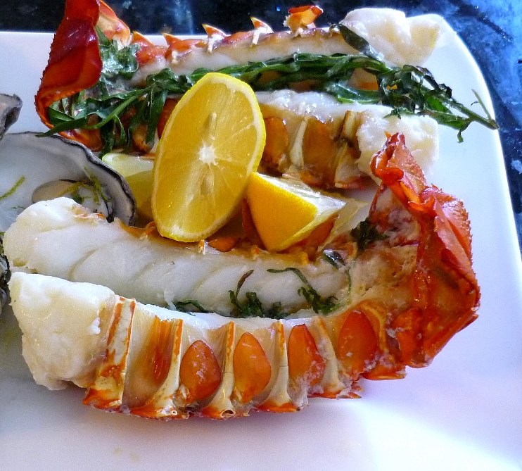 Lobster Tails with Champagne Tarragon Butter