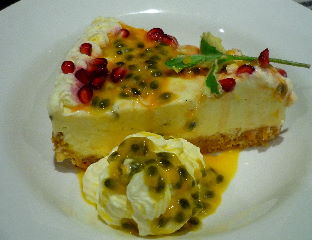 Passionfruit Pomegranate Cheesecake