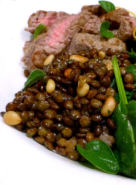 Puy Lentils with Pinenuts