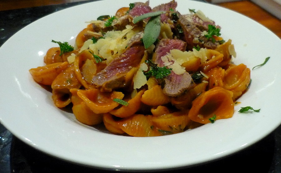 Sage and Seared Beef Pasta